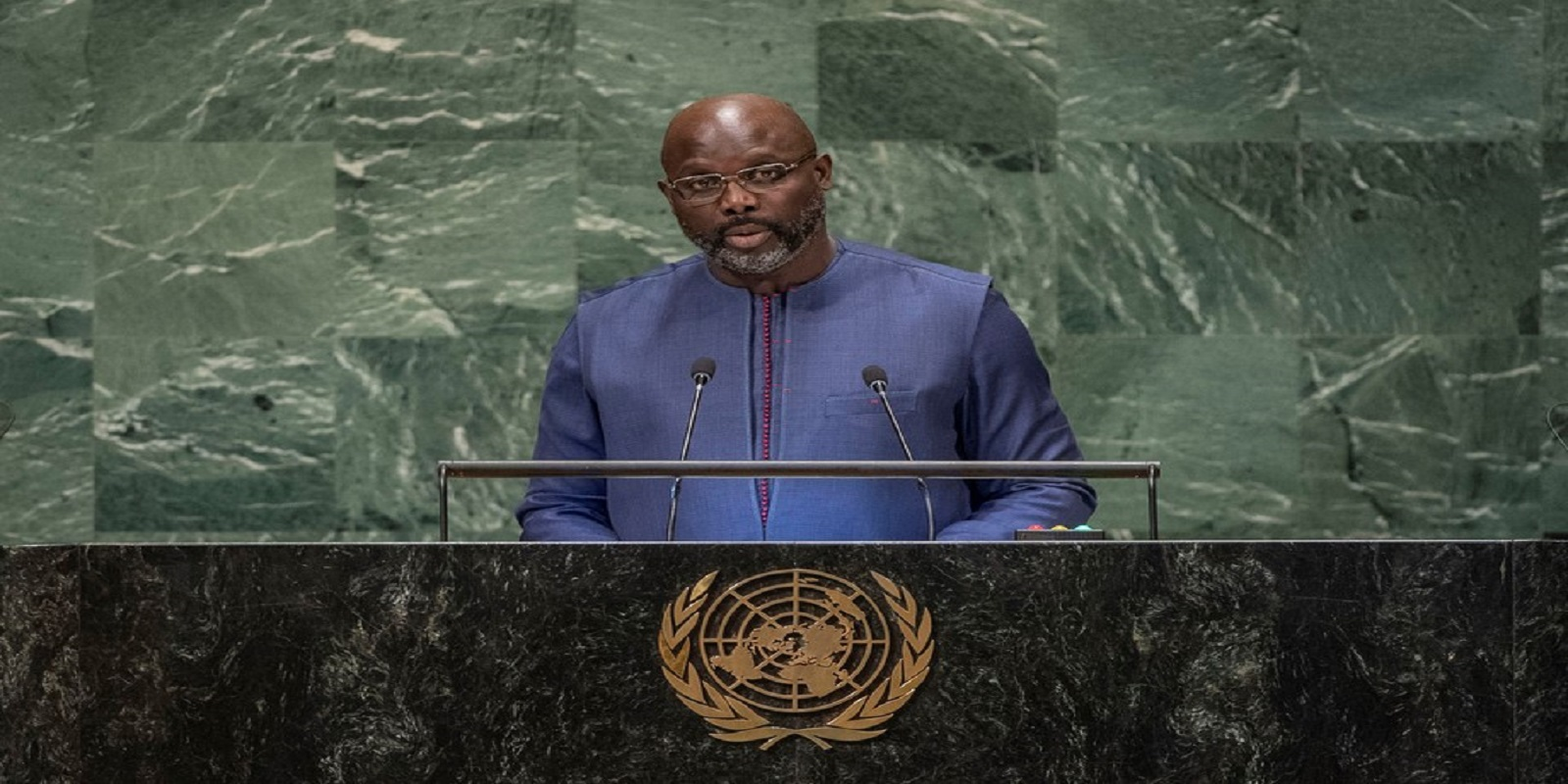 H.E. George Manneh Weah addresses 73rd Session of the United Nations General Assembly