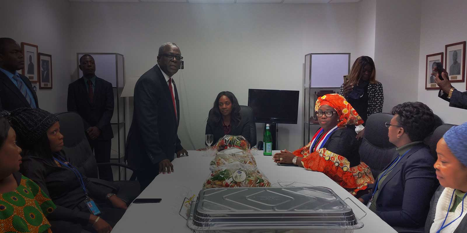 Liberia Permanent Mission Welcomes First Lady Weah